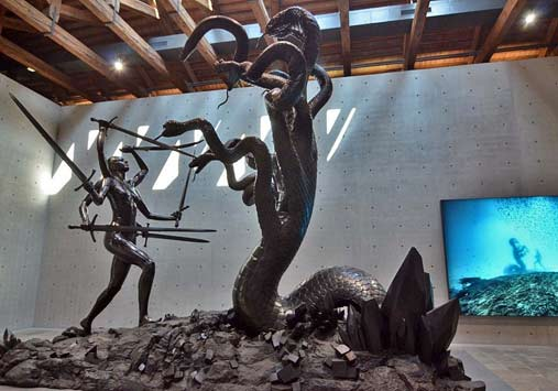 'Hydra and Kali' - Damien Hirst - sculpture of Kali in battle with Hydra