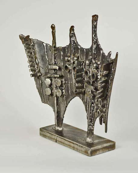brutalist mid century bronze sculpture