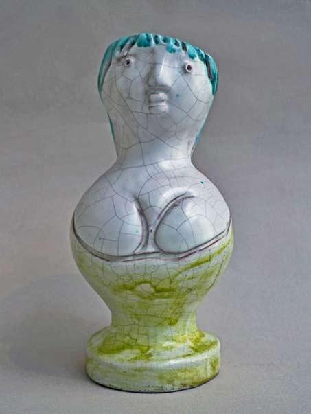 Georges Jouve ceramic female figure