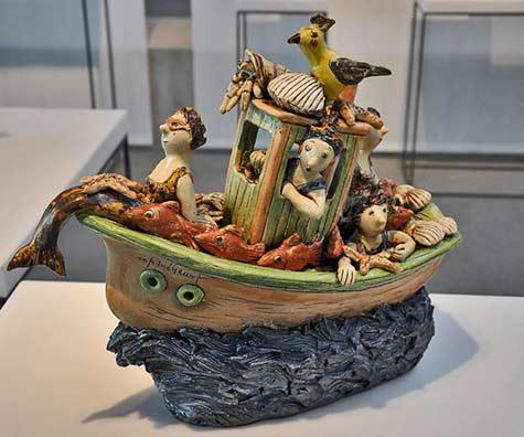 Marie Pierre Meheust_boat-sculpture