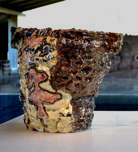 Michel Le Gentil_ceramic sculpture vase