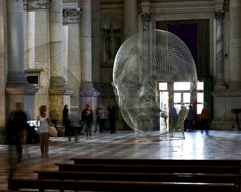 Mist, 2014 jaume-plensa-venice-art-biennale-photography by jonty wilde the Basilica of San Giorgio Maggiore