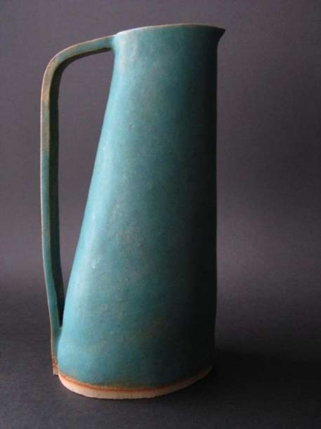 Steve-Leaning-ceramic-jug for Newton Pottery