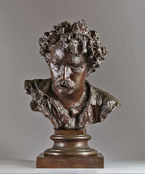 Bronze sculpture bust--Vincenzo-Gemito-Ritratto-del-pittore-Mariano-Fortuny