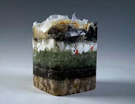 Nathalie_Houghton-glass-sculpture - Preserved Sample: Layers of the Anthropocene