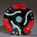 45 RPM Handmade glass bowl