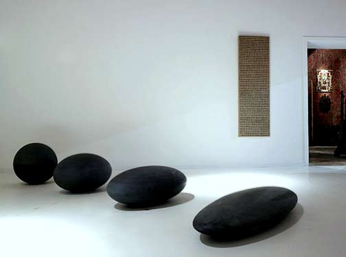 four sculptural stones