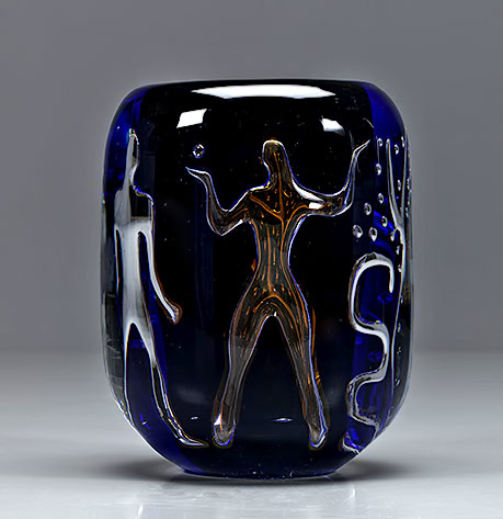 'Ariel'-glass-vase,'-Adam-and-Eve'-,-1939-Vicke Lindstrand