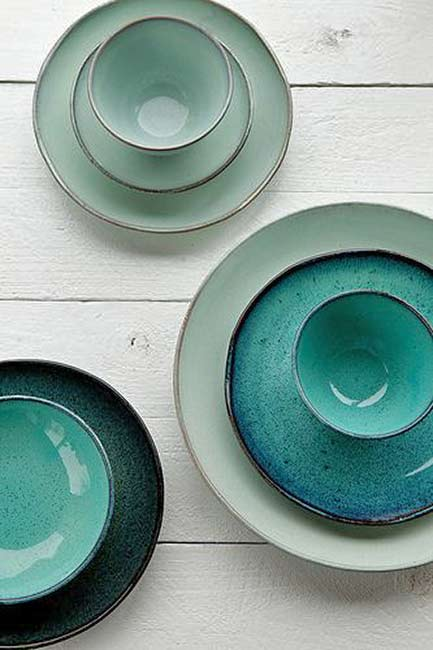 Aqua-by-serax- ceramic plates and bowls in green tones