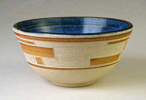 Bowl tri banded blue Christopher Unger