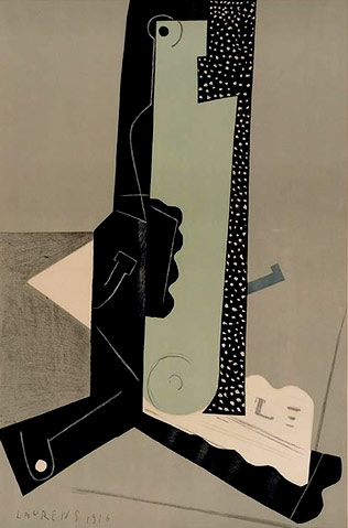 Composition,-1916-,-Henri-Laurens abstract painting
