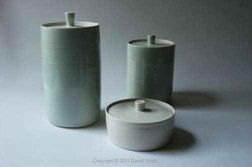 Daniel-Smith-green-ceramic canisters