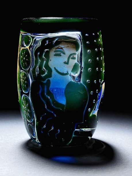 Edvin-Öhrström-(1906-1994),-Orrefors,-'Ariel'-Glass-Vase-