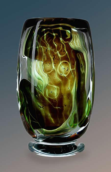 Edvin-Öhrström-(1906-1994),-Orrefors,-'Ariel'-Glass-Vase--