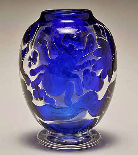 Edvin-Ohrstrom-for-Orrefors-Ariel-blue art-glass-vase