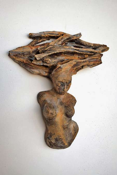 Figurative-Ceramic---Mini-Muses'-Series---Wall-Sculpture---Beverly-Morrison-Sculptor
