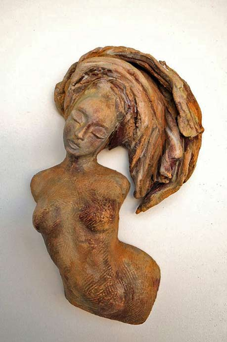 Figurative-Ceramic---Sway---Wall-Sculpture---Beverly-Morrison-Sculptor