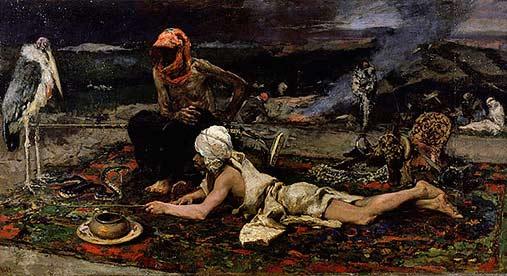 'Hindu Snake Charmers' - Mariano Fortuny