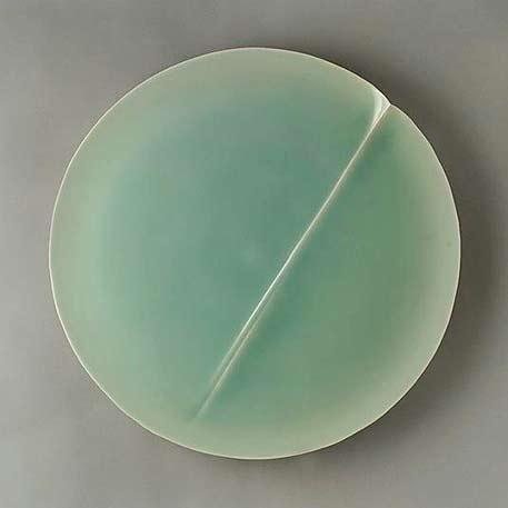 Fukami Sueharu--Seascape Porcelain with celadon glaze,-2004