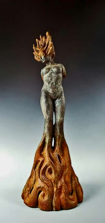 Growing Pains By Beverly Morrison naked emental figure sculpture