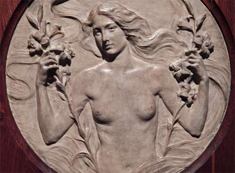 Guido-Cadorin -nude-female-sculpture relief
