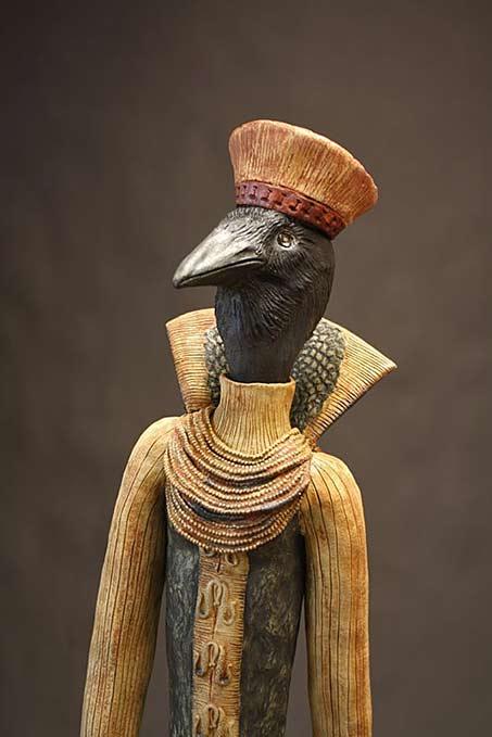 Raven-sculpture-Maria De Castro