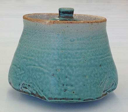 -Thrown-and-Altered-jar in -Green by Se Kim