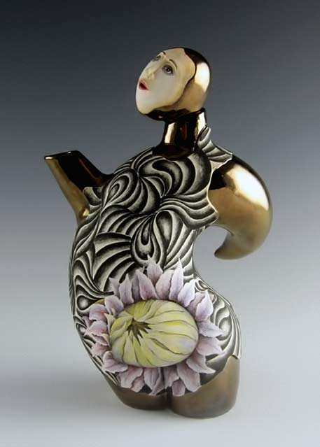 Julia Feld-'Blooming Beauty teapot