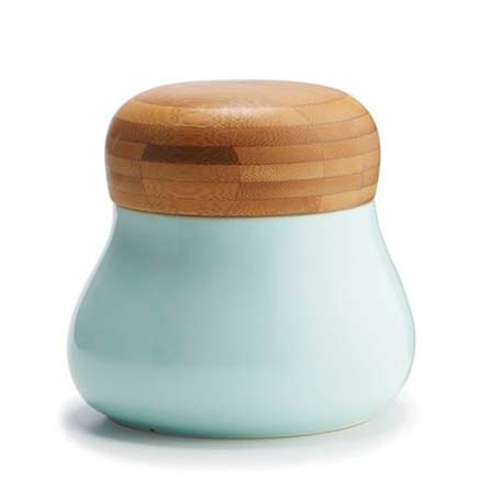 Kahler-Mano- matt green ceramic Storage-Jar