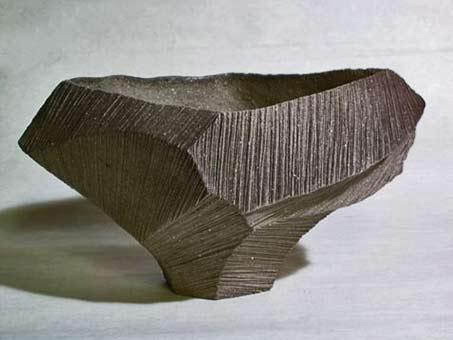 Kayoko-Hoshino-black ceramic sculptural-bowl