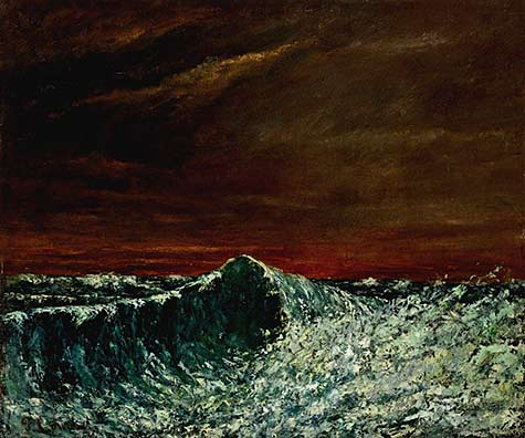 La-Vague-–-Gustave-Courbet-(France) oil painting of the ocean waves