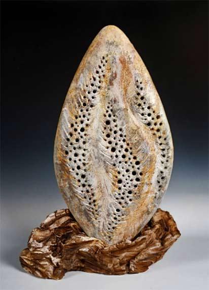 Ceramic Leaf-Sculpture-by-Beverly-Morrison