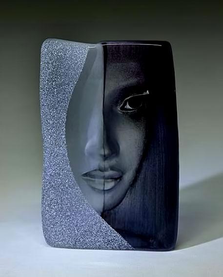 Mats Jonason glass modernist vase