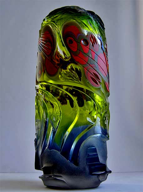 Maciej-Dyszkiewicz-abstract-carved glass glass sculpture