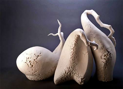 Morphic-Series the gathering---Shape-B-Sculpture-by-Beverly-Morrison