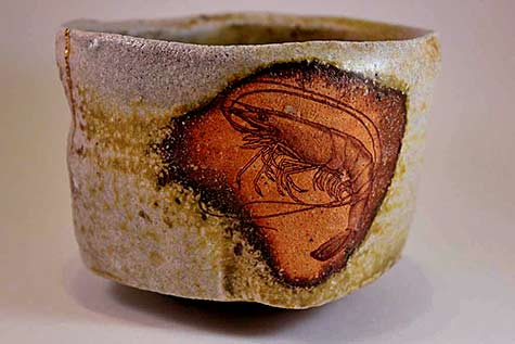 Nathan-Ring-ceramic-tea-cup with lobster motif