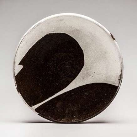 Lindsay Rogers Ceramics black and white Zen plate