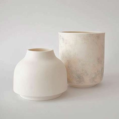 Rimma-Tchilingarian-two white-porcelain-vessels