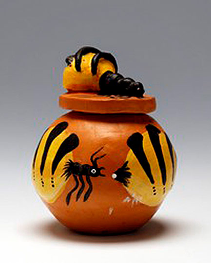Rona Panangka Rubuntja- Honey Ant 2002 - Hermannsburg - Terracotta -- Hood Museum of Art, Dartmouth College