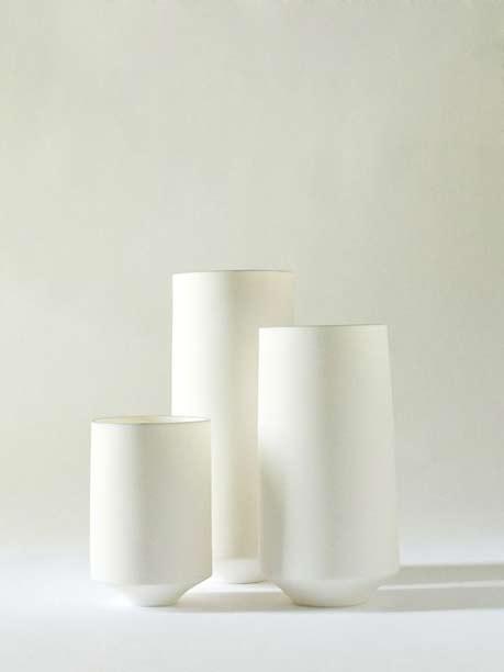 Ryota-Aoki-white porcelain-vases