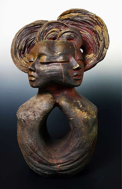 The Dyad---Twin Souls-Beverly-Morrison cojoined female sculpture-