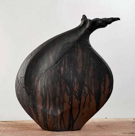 The-Seed---Black-Clay-vessel - Beverly-Morrison