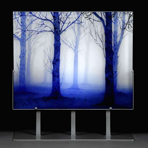 Trees-in-Twilight---Paul-Messink handpainted glass panel
