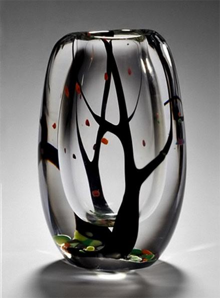 Vas-Autumn-city-Vicke-Lindstrand-Swedish glass art