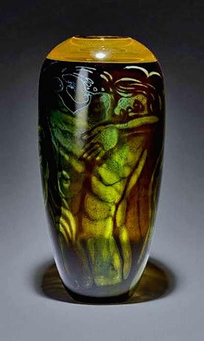Vase.-'Omfamningen'Embrace-Orrefors-1990--