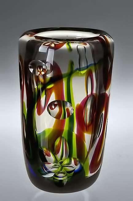 Vicke-Lindstrand-glass -for-Kosta--Aquarium vase