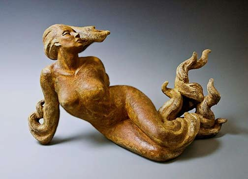 Yellow Woman---Beverly Morrison---Ceramic-Sculptor