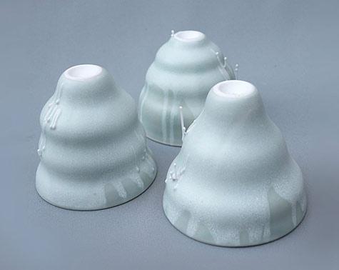Nathalie-Jover three matt porcelain cups
