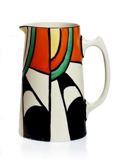 CLARICE-CLIFF JUG'Bizarre'-jug-shape-42
