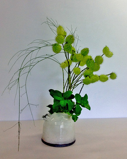 Green ikebana Arrangement--2015